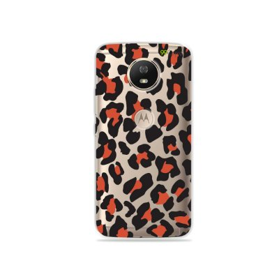 Capa para Moto G5S - Animal Print Red