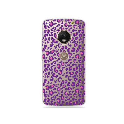 Capa para Moto G5 Plus - Animal Print Purple