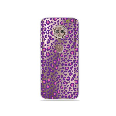 Capa para Moto G6 - Animal Print Purple