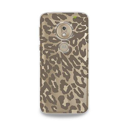 Capa para Moto G7 Play - Animal Print Nude