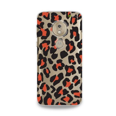 Capa para Moto G7 Play - Animal Print Red