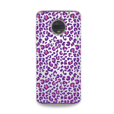 Capa para Moto G7 - Animal Print Purple