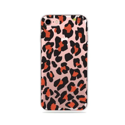 Capa para iPhone 7 - Animal Print Red