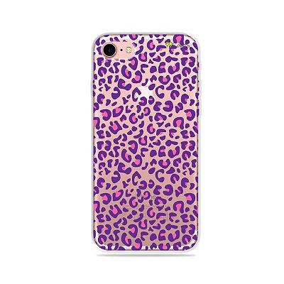 Capa para iPhone 7 - Animal Print Purple