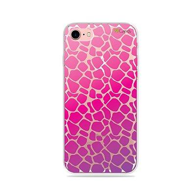 Capa para iPhone 7 - Animal Print Pink