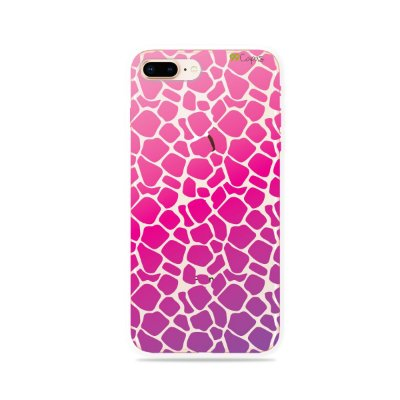 Capa para iPhone 7 Plus - Animal Print Pink