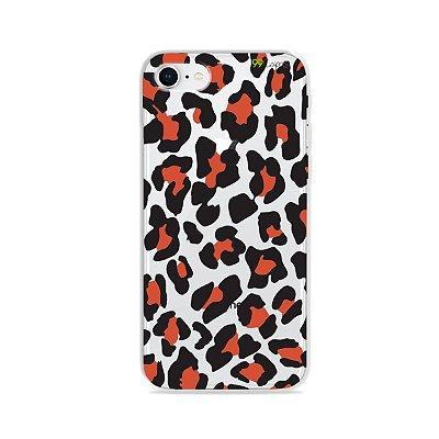 Capa para iPhone 8 - Animal Print Red