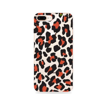 Capa para iPhone 8 Plus - Animal Print Red