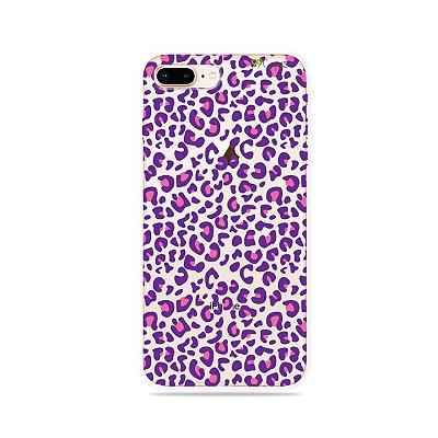 Capa para iPhone 8 Plus - Animal Print Purple