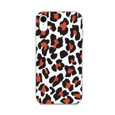 Capa para iPhone XR - Animal Print Red