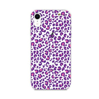Capa para iPhone XR - Animal Print Purple