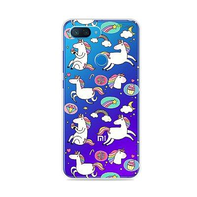 Capa para Xiaomi Mi 8 Lite - Unicórnios Felizes