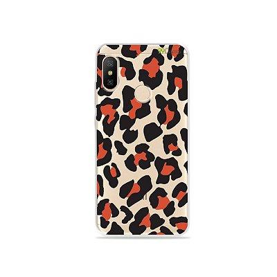 Capa para Xiaomi Mi A2 Lite - Animal Print Red