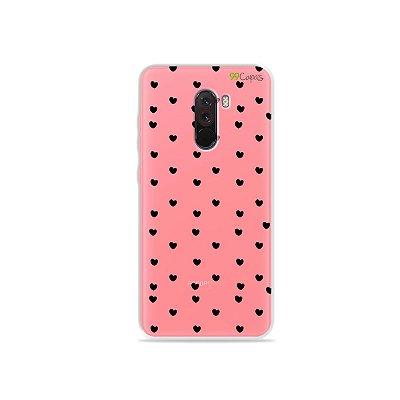 Capa para Xiaomi Pocophone F1 - Corações Preto