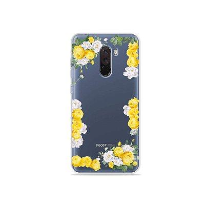 Capa para Xiaomi Pocophone F1 - Yellow Roses