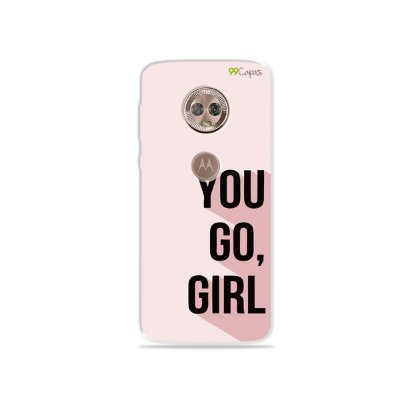 Capa para Moto G6 Plus - You Go, Girl