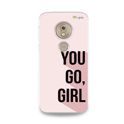 Capa para Moto G7 Play - You Go, Girl