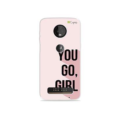 Capa para Moto Z3 Play - You Go, Girl