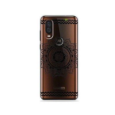 Capa para Moto One Vision - Mandala Preta