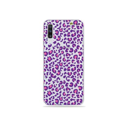 Capa para Galaxy A70 - Animal Print Purple