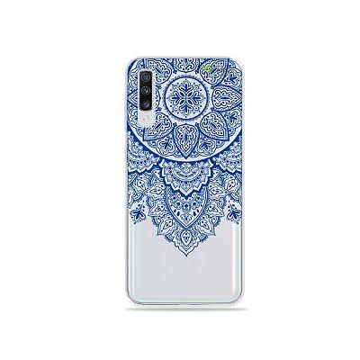 Capa para Galaxy A70 - Mandala Azul