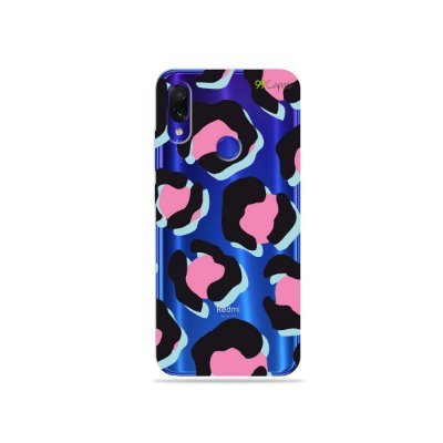 Capa para Xiaomi Redmi Note 7 - Animal Print Black & Pink