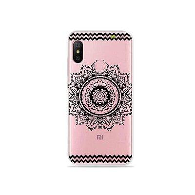 Capa para Xiaomi Redmi Note 6 - Mandala Preta