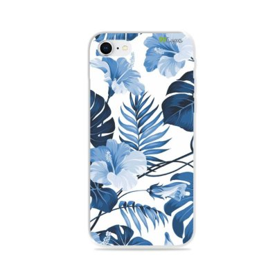 Capa para iPhone 8 - Flowers in Blue
