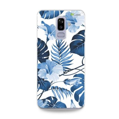Capa para Galaxy J8 - Flowers in Blue