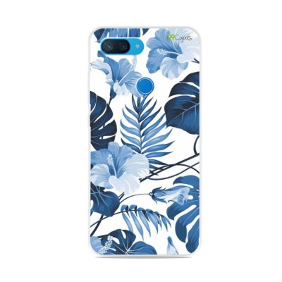 Capa para Xiaomi Mi 8 Lite - Flowers in Blue