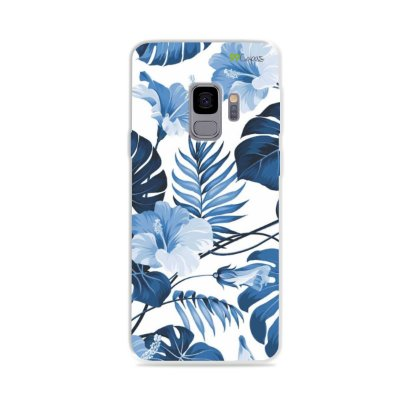 Capa para Galaxy S9 - Flowers in Blue