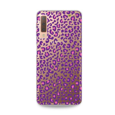 Capa para Galaxy A7 2018 - Animal Print Purple