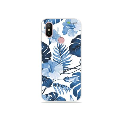 Capa para Xiaomi Mi A2 - Flowers in Blue