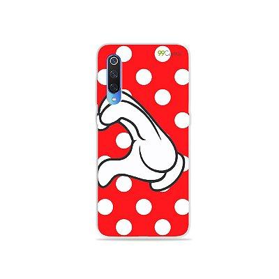 Capa para Xiaomi Mi 9 - Coração Minnie
