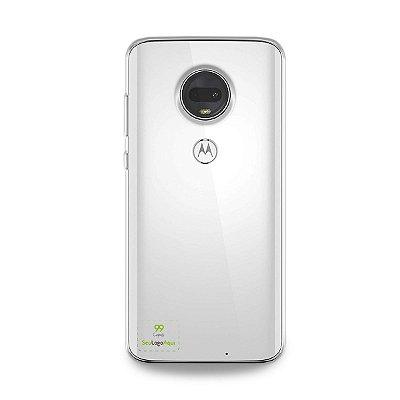 Capa Anti-shock transparente para Motorola com sua logo no canto inferior esquerdo