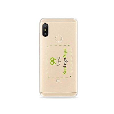 Capa Anti-shock transparente para Xiaomi com sua logo no meio