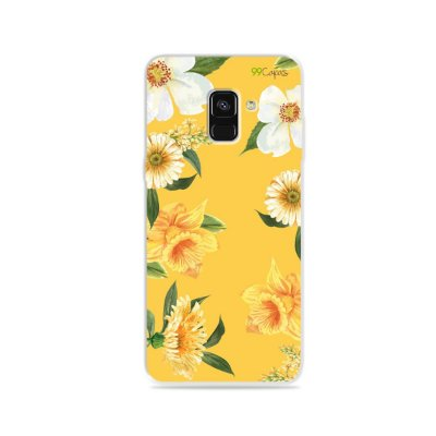 Capa para Galaxy A8 Plus - Margaridas
