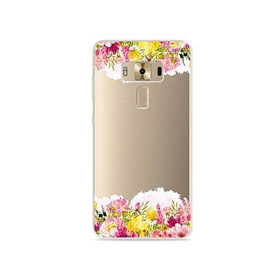 Capa para Zenfone 3 Deluxe - 5.7 Polegadas - Botânica