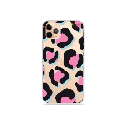 Capa para iPhone 11 Pro - Animal Print Black & Pink