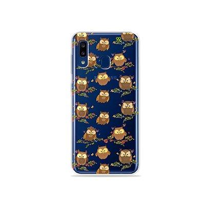 Capa para Galaxy A20 - Corujinhas