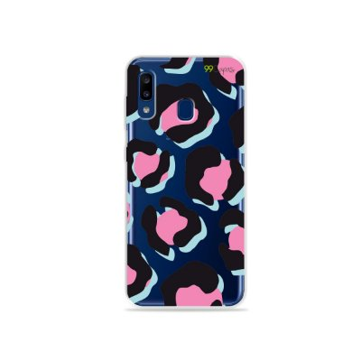 Capa para Galaxy A20 - Animal Print Black & Pink