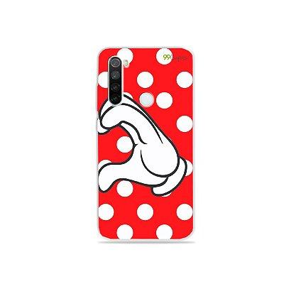 Capa para Xiaomi Redmi Note 8 - Coração Minnie