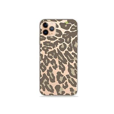 Capa para iPhone 11 Pro Max - Animal Print Nude