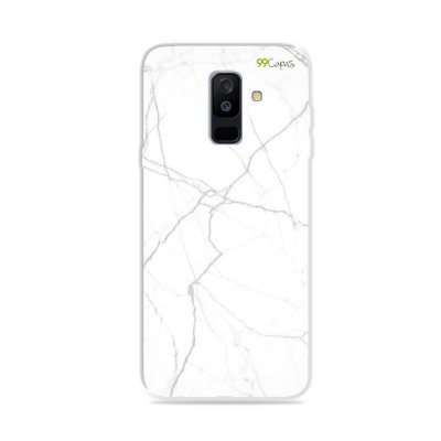 Capa para Galaxy A6 Plus - Marble White