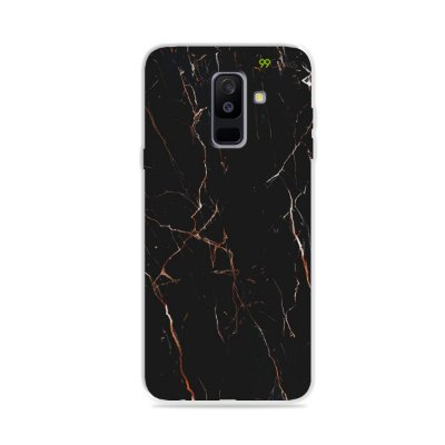 Capa para Galaxy A6 Plus - Marble Black