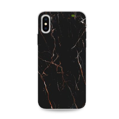 Capa para iPhone X/XS - Marble Black