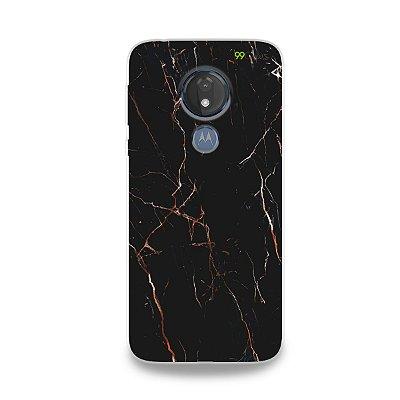 Capa para Moto G7 Power - Marble Black