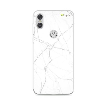 Capa para Moto One - Marble White