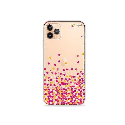 Capa para iPhone 11 Pro - Corações Rosa