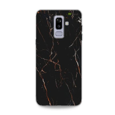 Capa para Galaxy J8 - Marble Black